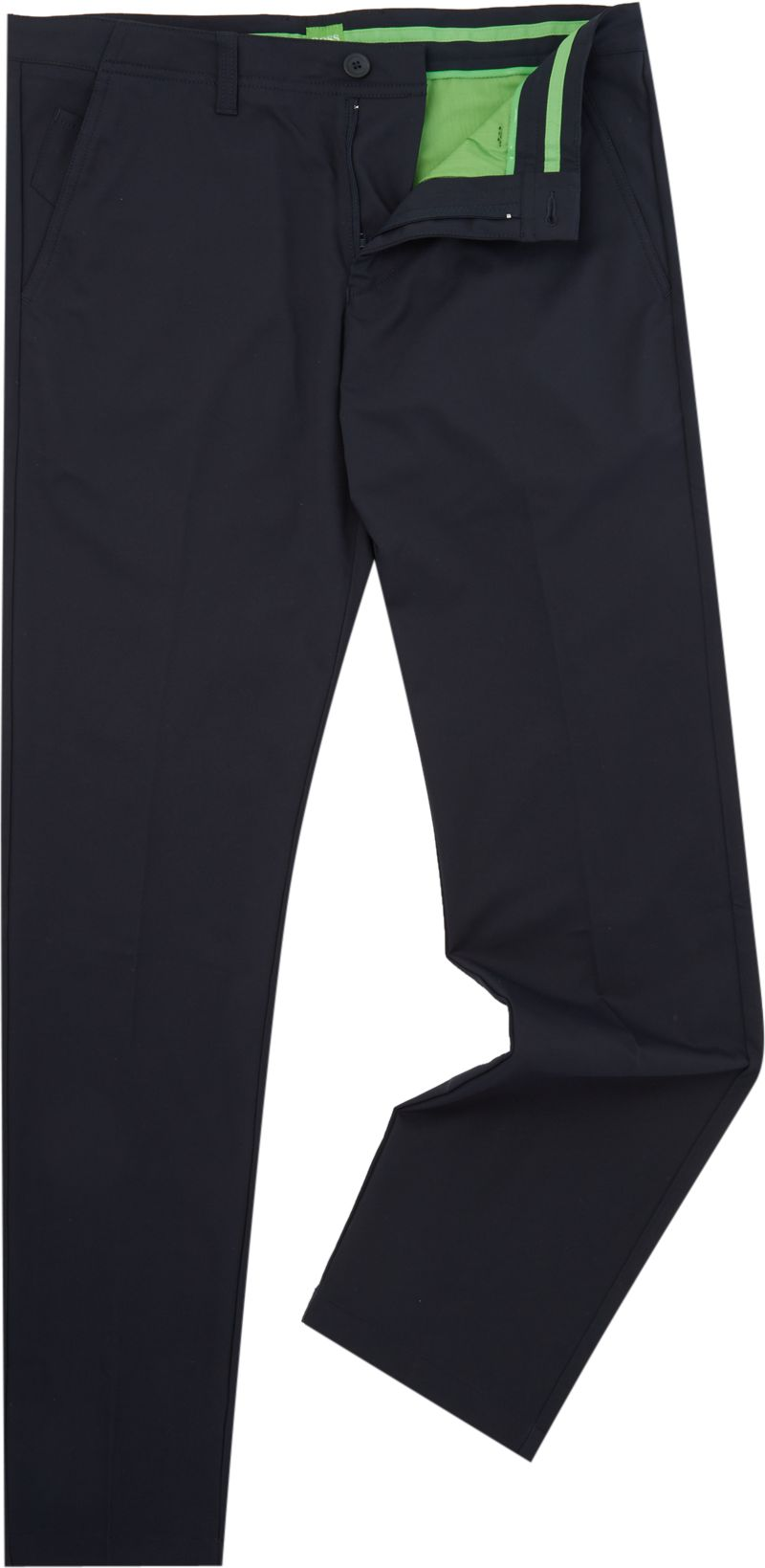 Mens Hugo Boss Golf hakan 7 slim fit water rep trousers Navy
