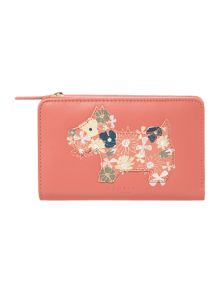 Radley Hippy Dog coral medium zip around