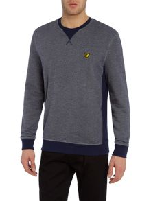 Lyle and Scott Twill Look Crew Neck Sweatshirt