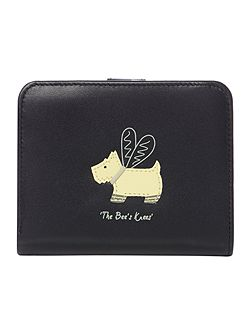 The Bees Knees black medium flap over purse