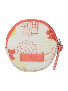 Radley Hippy dog coral small zip coin purse