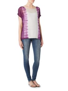 Label Lab Square stripe tie dye blouse