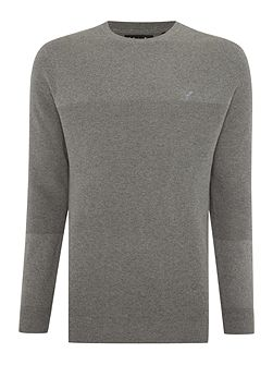 Rib Placement Knitted Crew Neck Jumper