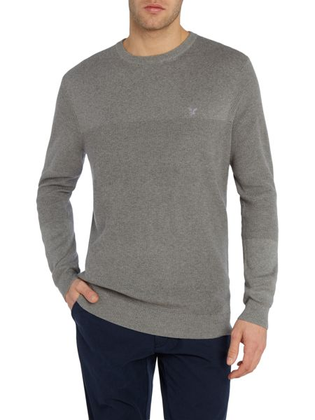 Lyle and Scott Rib Placement Knitted Crew Neck Jumper