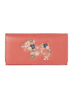 Hippy dog coral large flap over purse