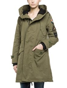 Replay Hooded cotton jacket