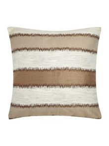 Linea Jacquard stripe cushion, taupe