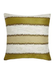 Linea Jacquard stripe cushion, green