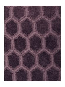 Linea Faux cut velvet, purple