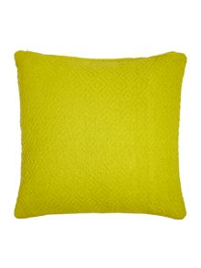 Linea Diamond weave cushion, lime