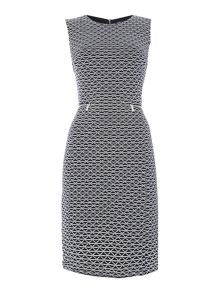 Episode Bodycon tweed dress with sheer panel