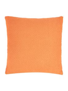 Linea Diamond weave cushion, terracotta