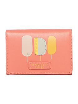 Lollipops Coral Small Credit Card Holder