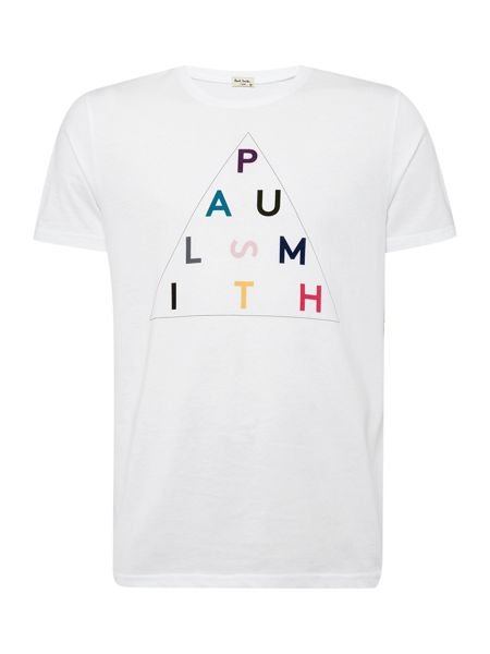 Paul Smith Jeans Regular fit crew neck triangle print t-shirt