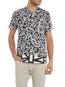 Paul Smith Jeans Regular fit crew neck brush stroke t shirt