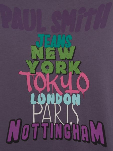 Paul Smith Jeans Regular fit crew neck text city t-shirt