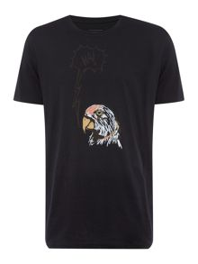 Paul Smith Jeans Regular fit crew neck parrot t-shirt