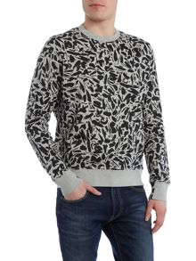 Paul Smith Jeans Crew neck brush stroke sweatshirt