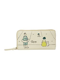 Picture lido ivory large zip around purse