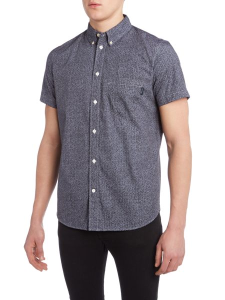 Paul Smith Jeans Short sleeve squiggle check print shirt