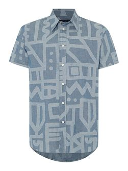 Men's Paul Smith Jeans Short sleeve chambray print