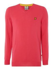 Lyle and Scott Golf Merino 12gg V neck