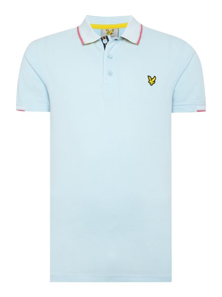 Lyle and Scott Golf Tevoit Stripe Collar Polo Shirt