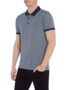 Lyle and Scott Golf Diagonal Stripe Polo