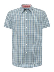 Paul Smith Jeans Short sleeve small check print shirt