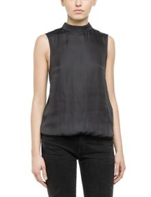 Replay Sleeveless shirt with short zip