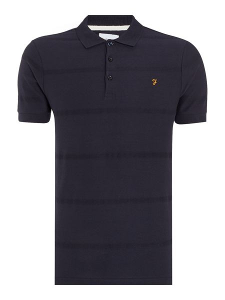 Farah Garner regular fit textured stripe polo shirt
