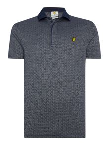 Lyle and Scott Golf Micro Argyle Polo