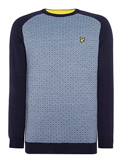Men's Lyle and Scott Golf Micro Argyle Pullover