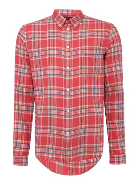 Paul Smith Jeans Long sleeve brushed check print shirt