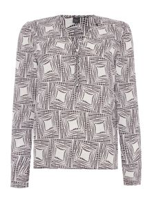 Replay Stretch crepe blouse