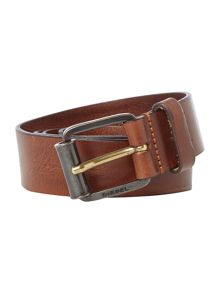 Diesel B-wring distressed leather belt