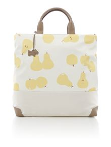 Radley Apples and pears ivory large ziptop multiway