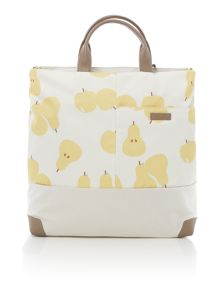 Apples and pears ivory large ziptop multiway