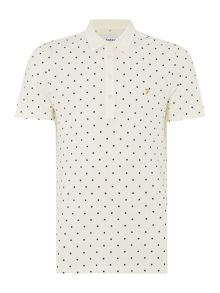 Kenley regular fit spot print polo shirt