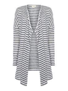 Linea Weekend Stripe waterfall cardi