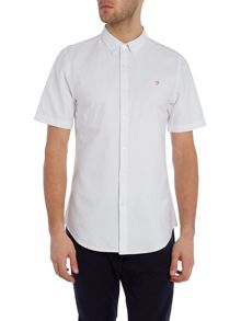 Farah Brewer slim fit short sleeve oxford shirt