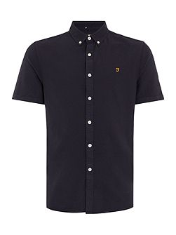 Men's Farah Brewer slim fit short sleeve oxford