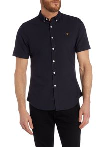 Brewer slim fit short sleeve oxford shirt