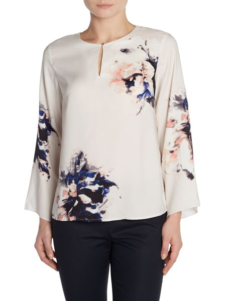 Vince Camuto Floral printed chiffon blouse