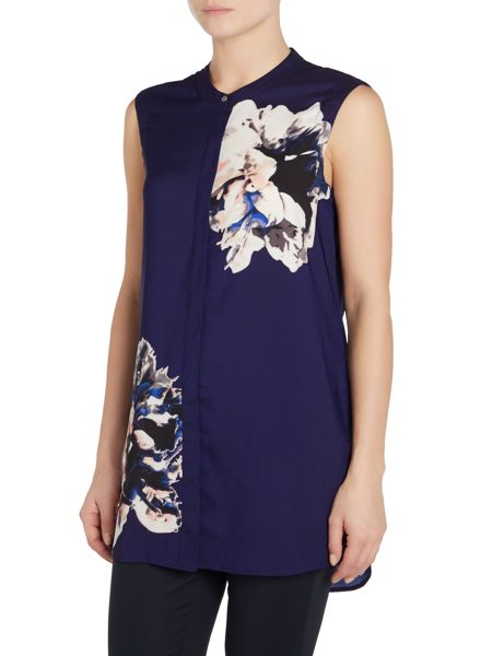 Vince Camuto Abstract floral print tunic