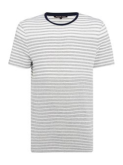 Regular fit stripe short sleeve crew neck t