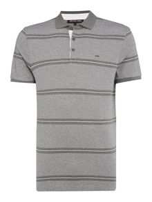 Michael Kors Regular fit multi stripe short sleeve polo shirt