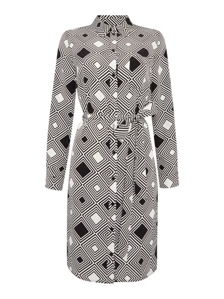 Linea Printed woven shirt dress