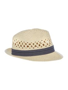Ted Baker Woven straw hat with band