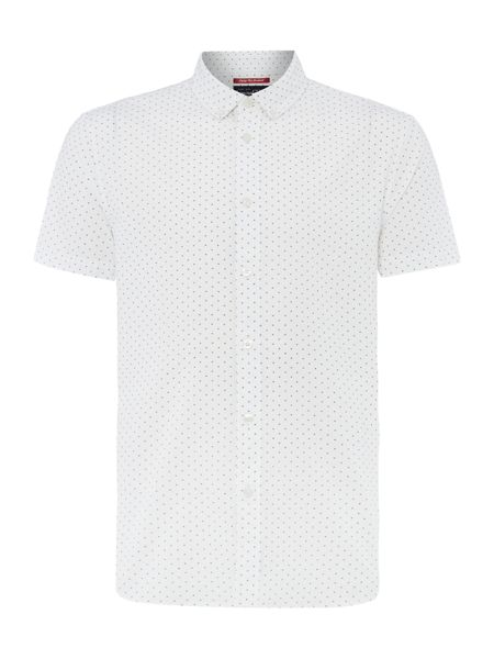 Criminal Hubert Geo Print Short Sleeve Shirt